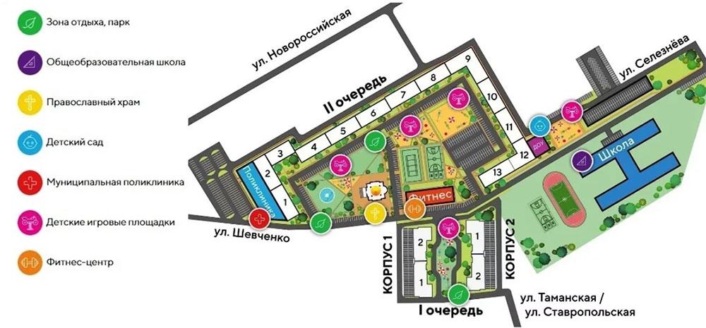 План территории ЖК «Рекорд»