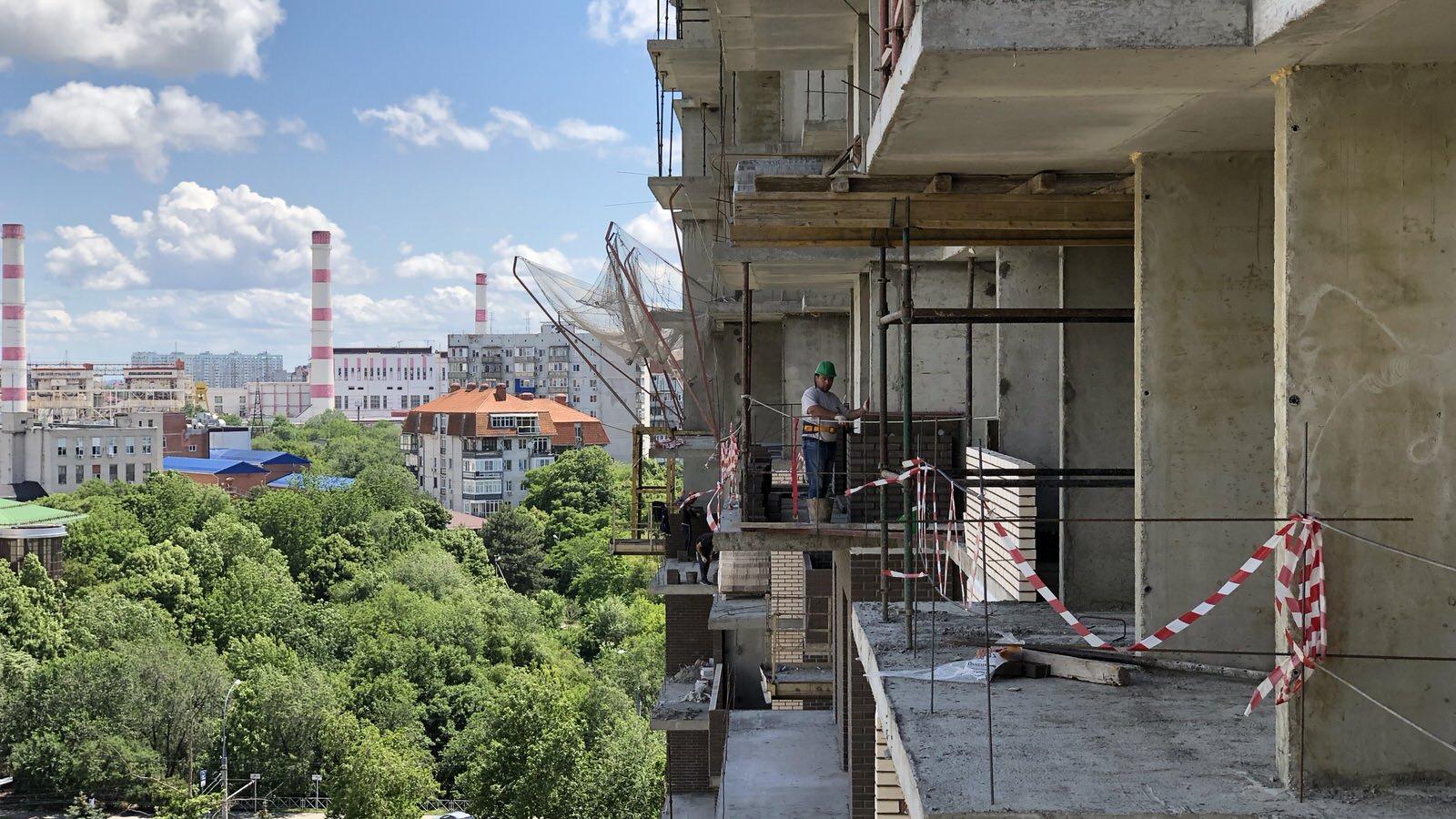 Отчет о строительстве ЖК «Айвазовский», июнь , 2020г.