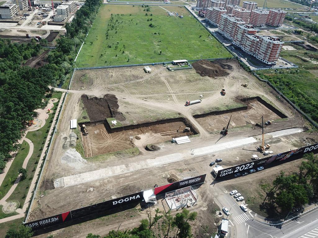 Отчет о строительстве ЖК «Парк Победы», июнь , 2020г.