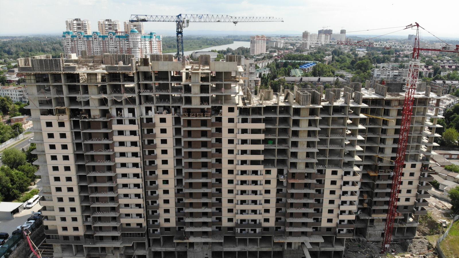 Отчет о строительстве ЖК «Айвазовский», июль, 2020г.