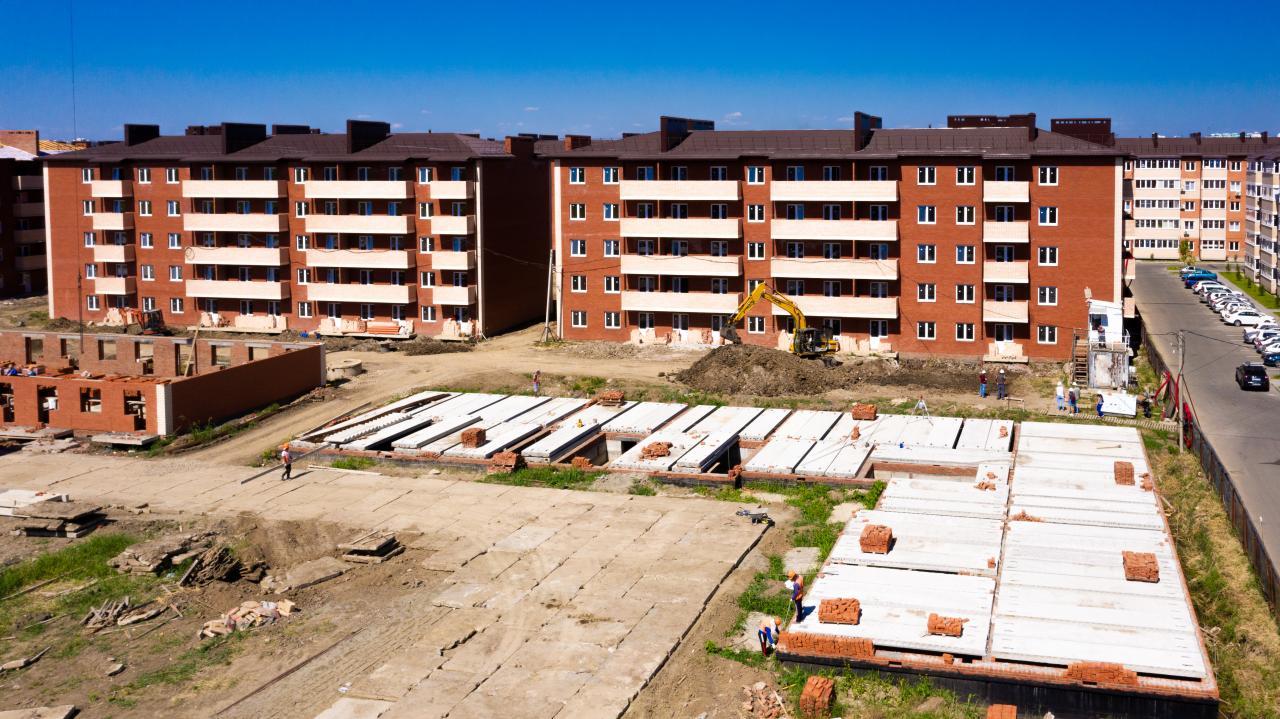 Отчет о строительстве ЖК «ДарГрад», август, 2020г.