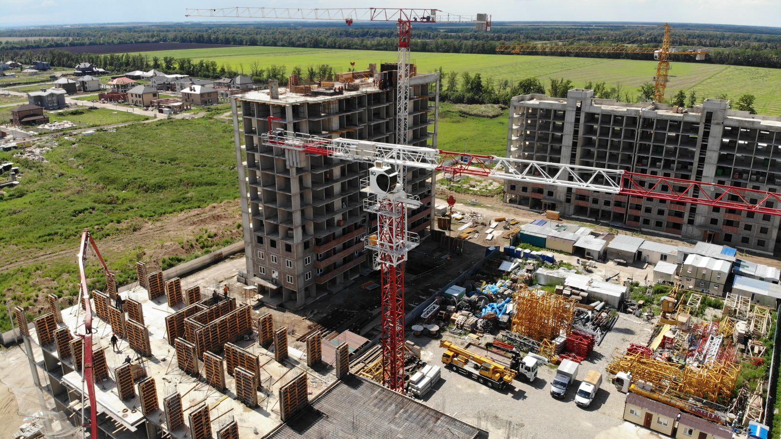 Отчет о строительстве ЖК «Южане», август, 2020г.