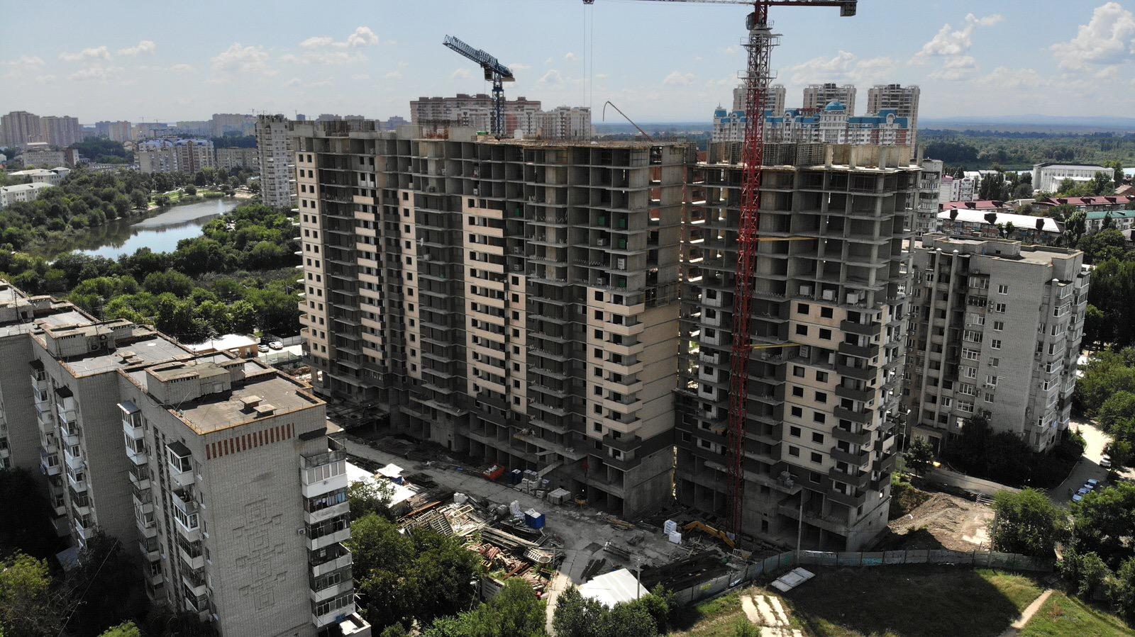 Отчет о строительстве ЖК «Айвазовский», август, 2020г.