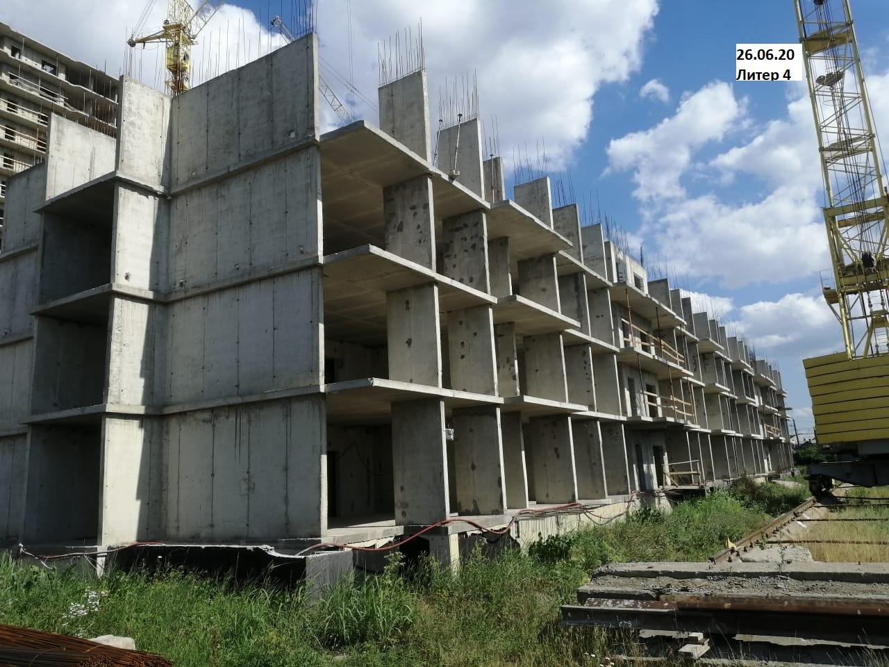 Отчет о строительстве ЖК «Акварели 2», июнь, 2020г.
