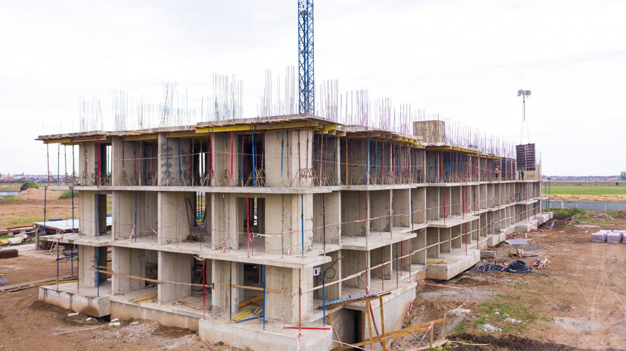 Отчет о строительстве ЖК «Отражение», август, 2020г.