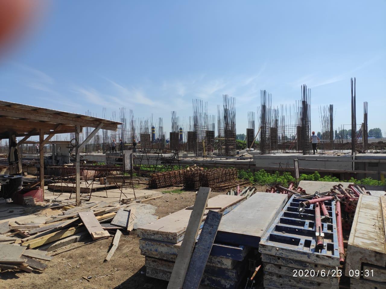 Отчет о строительстве ЖК «Отражение», июнь, 2020г.