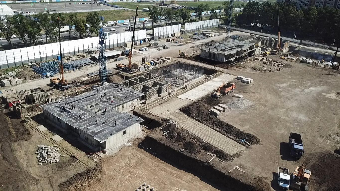 Отчет о строительстве ЖК «Парк Победы», август, 2020г.