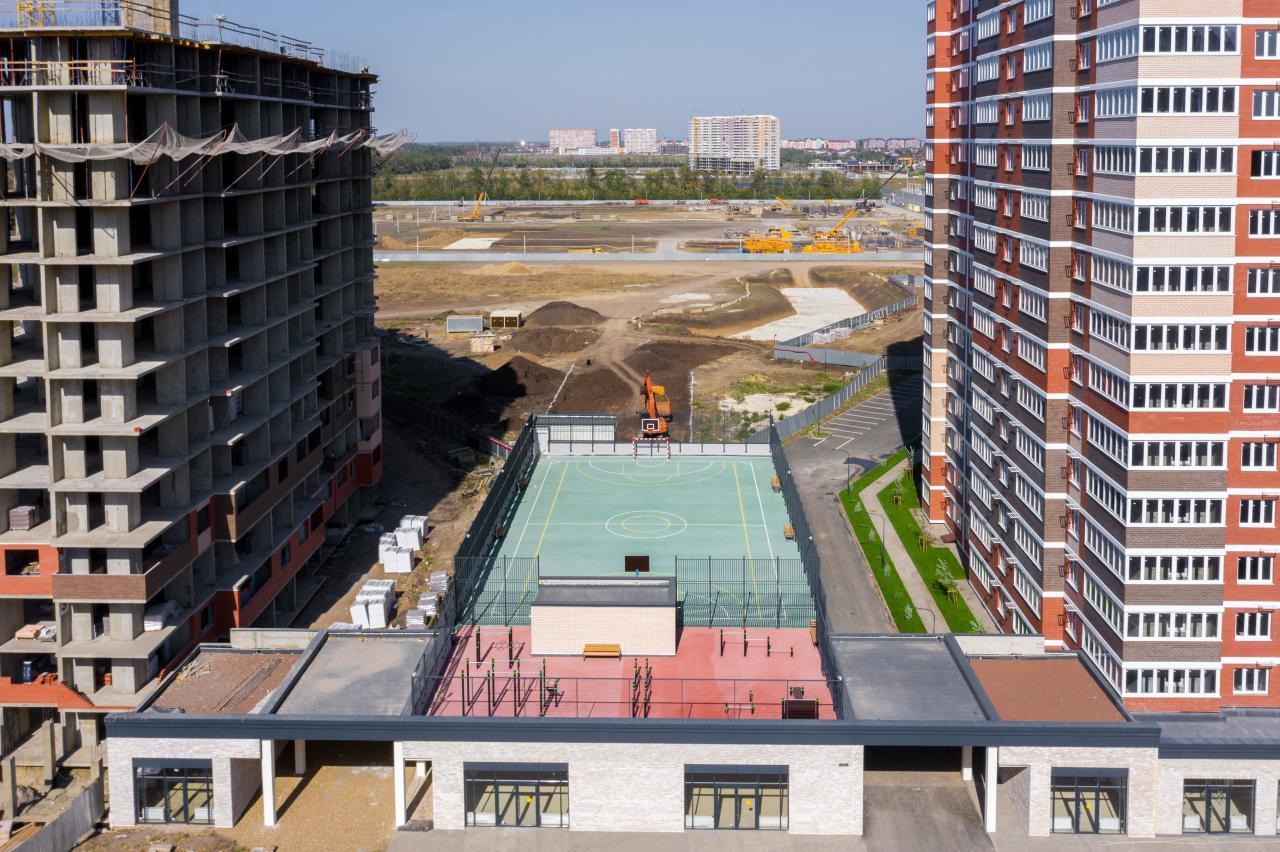 Отчет о строительстве ЖК «Грани», сентябрь, 2020г.