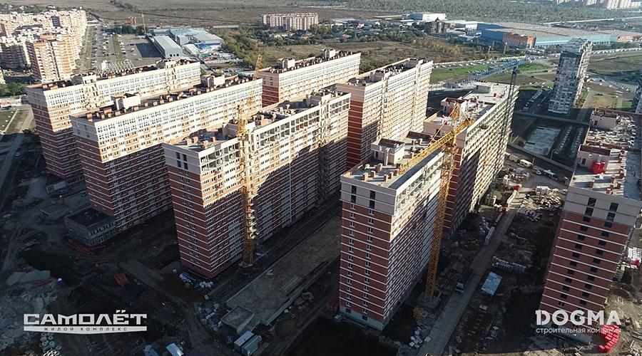 Отчет о строительстве ЖК «Самолет», октябрь, 2020г.