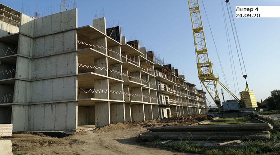 Отчет о строительстве ЖК «Акварели 2», сентябрь, 2020г.