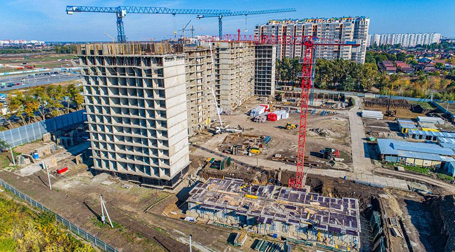 Отчет о строительстве ЖК «Парк Победы», октябрь, 2020г.