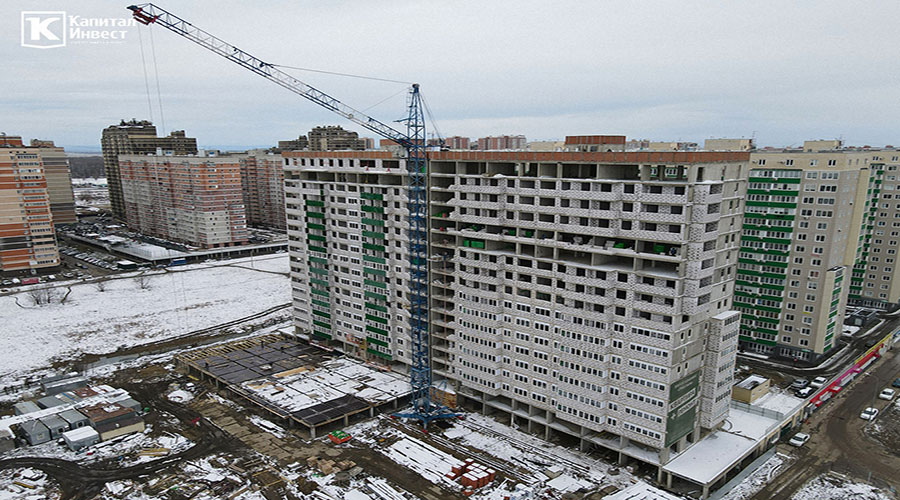 Отчет о строительстве ЖК «Грин парк», декабрь, 2020г.