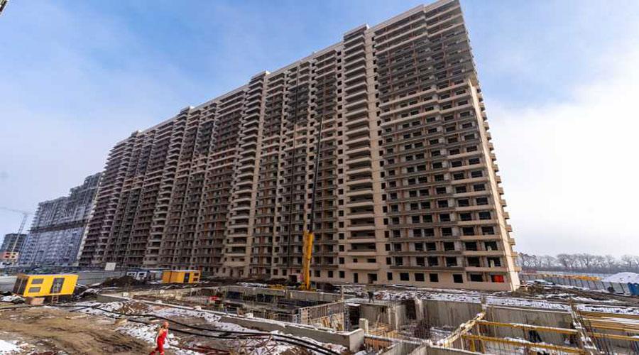 Отчет о строительстве ЖК «Абрикосово», январь, 2021г.