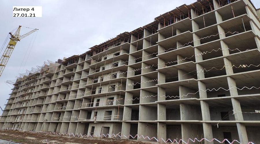 Отчет о строительстве ЖК «Акварели 2», январь, 2021г.