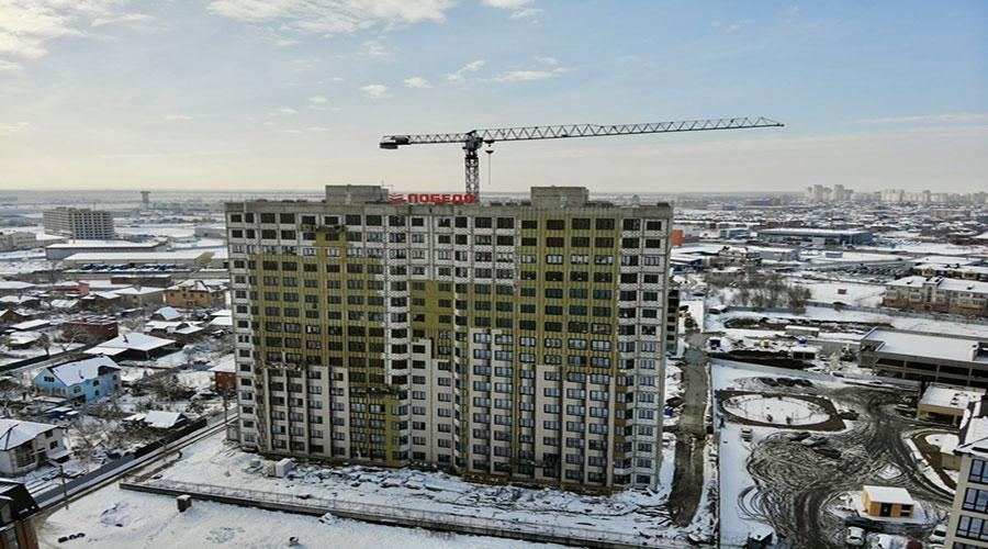 Отчет о строительстве ЖК «Мега Победа», январь, 2021г.