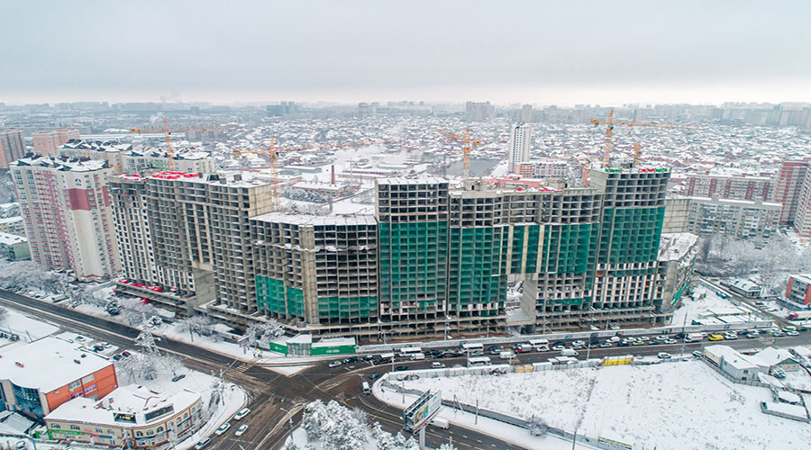 Отчет о строительстве ЖК «Сердце», январь, 2021г.