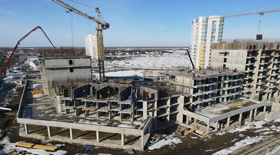 Отчет о строительстве ЖК «Зеленодар», январь, 2021г.
