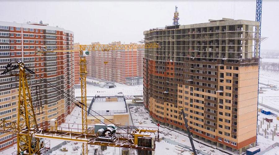 Отчет о строительстве ЖК «Грани», февраль, 2021г.