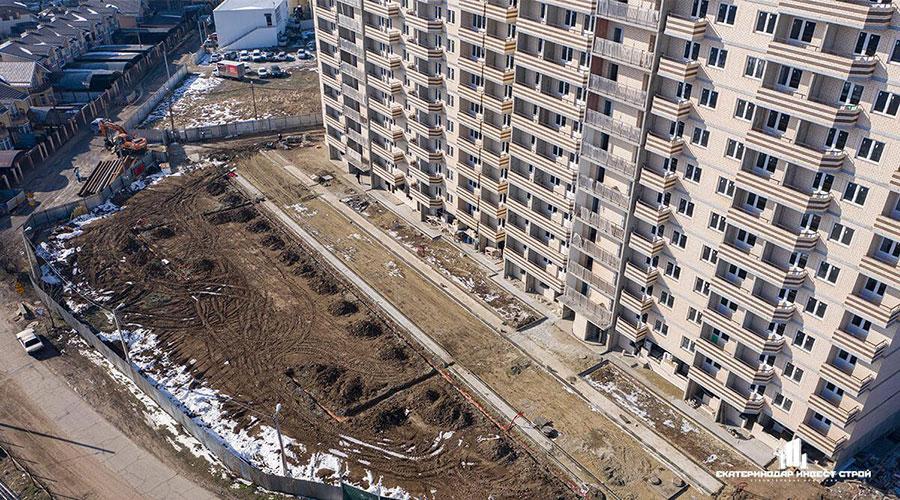 Отчет о строительстве ЖК «Олимпийский», февраль, 2021г.