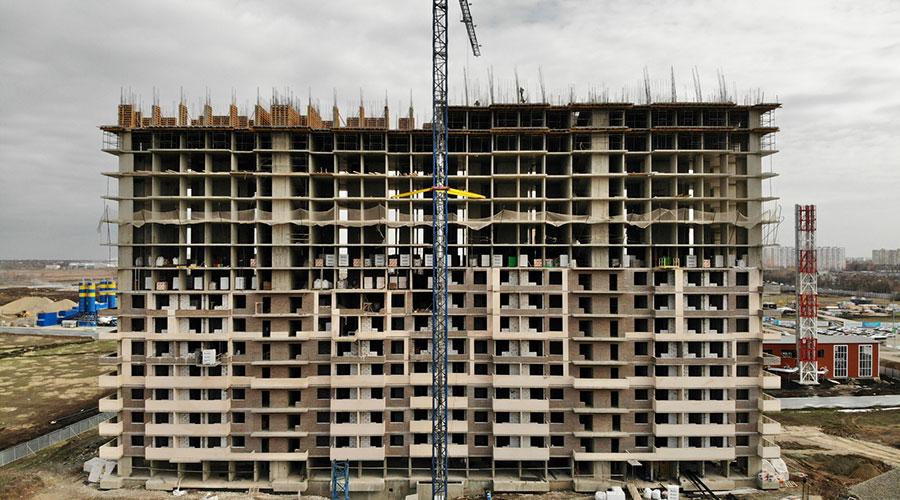 Отчет о строительстве ЖК «Отражение», февраль, 2021г.