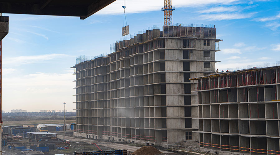 Отчет о строительстве ЖК «Ракурс», февраль, 2021г.