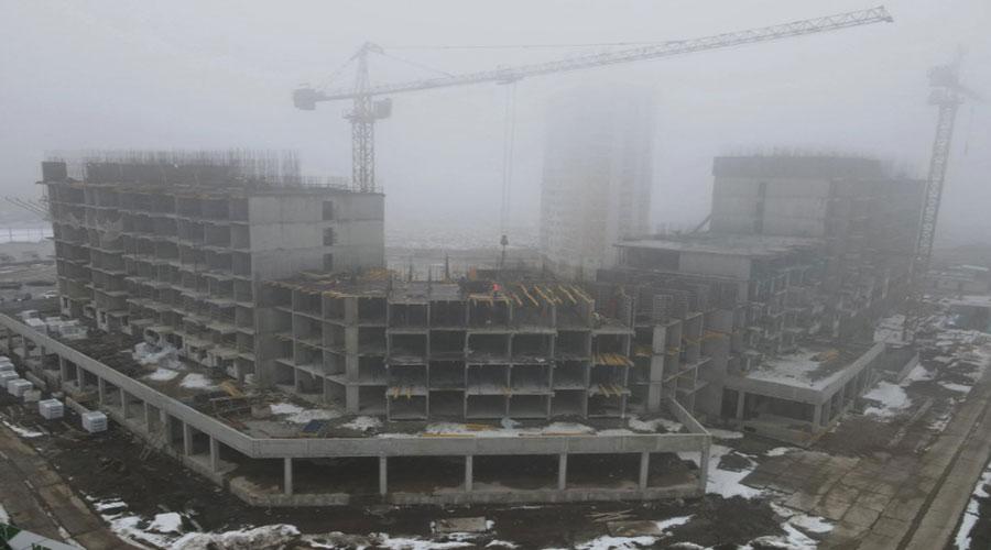 Отчет о строительстве ЖК «Зеленодар», февраль, 2021г.