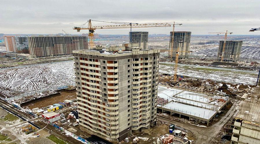 Отчет о строительстве ЖК «Дружный-2», март, 2021г.