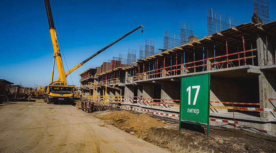 Отчет о строительстве ЖК «Дыхание», март, 2021г.