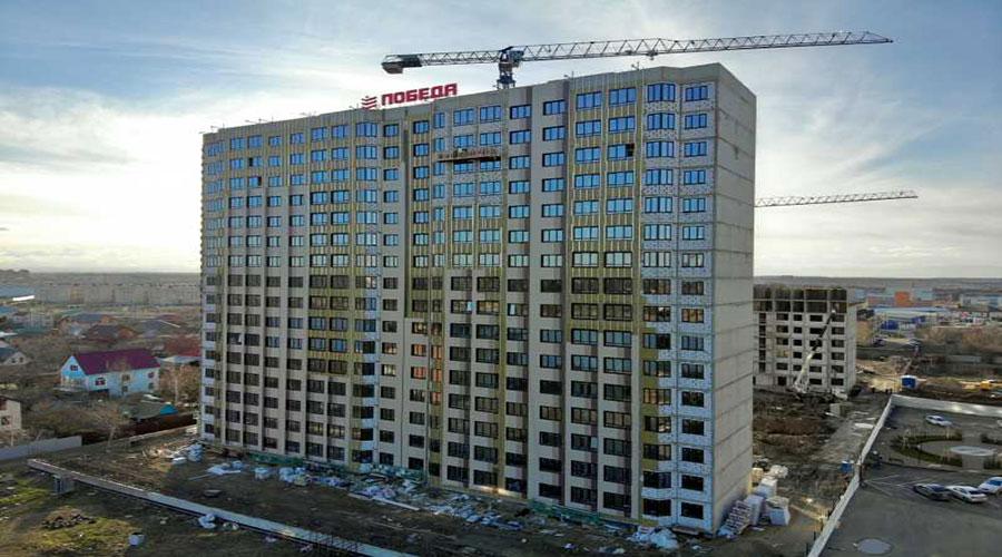 Отчет о строительстве ЖК «Мега Победа», февраль, 2021г.