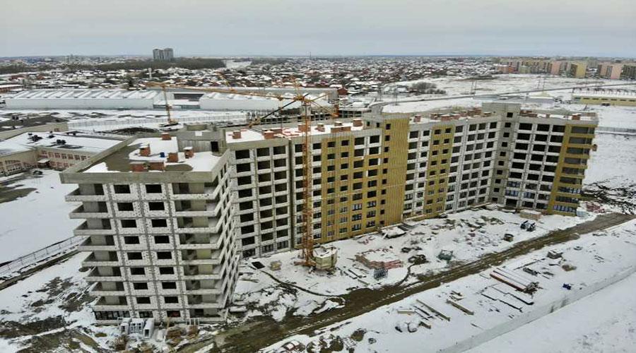 Отчет о строительстве ЖК «Мега Победа», март, 2021г.