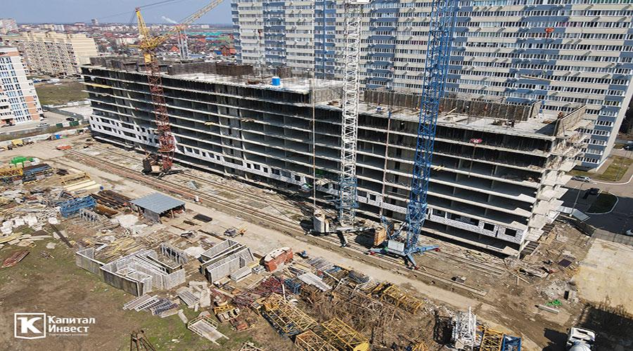 Отчет о строительстве ЖК «Оникс», март, 2021г.
