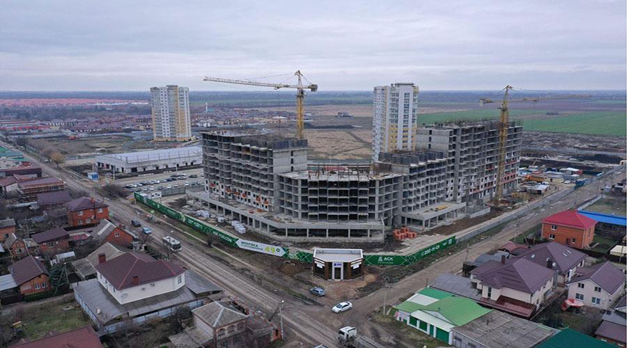 Отчет о строительстве ЖК «Зеленодар», март, 2021г.