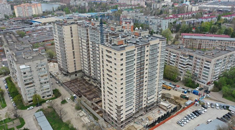 Отчет о строительстве ЖК «Айвазовский», апрель, 2021г.