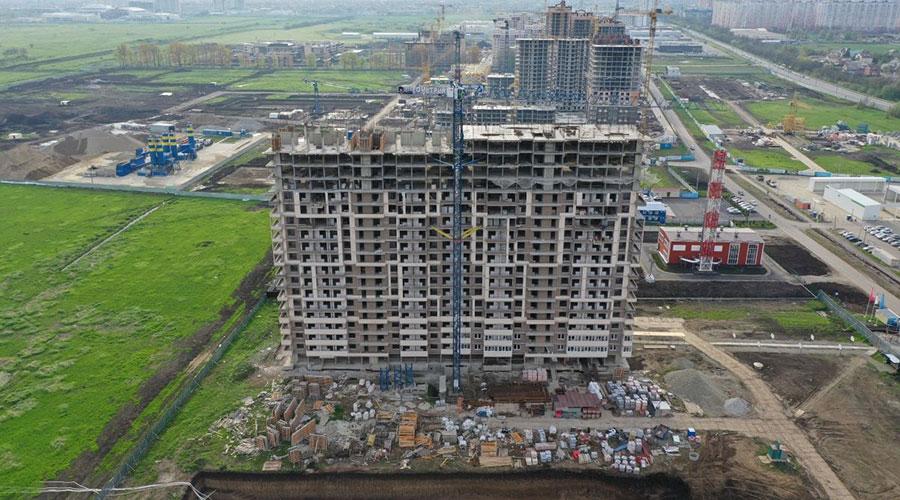 Отчет о строительстве ЖК «Отражение», апрель, 2021г.