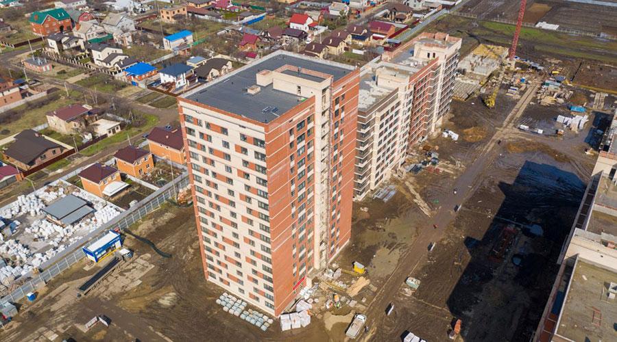Отчет о строительстве ЖК «Родные Просторы», апрель, 2021г.