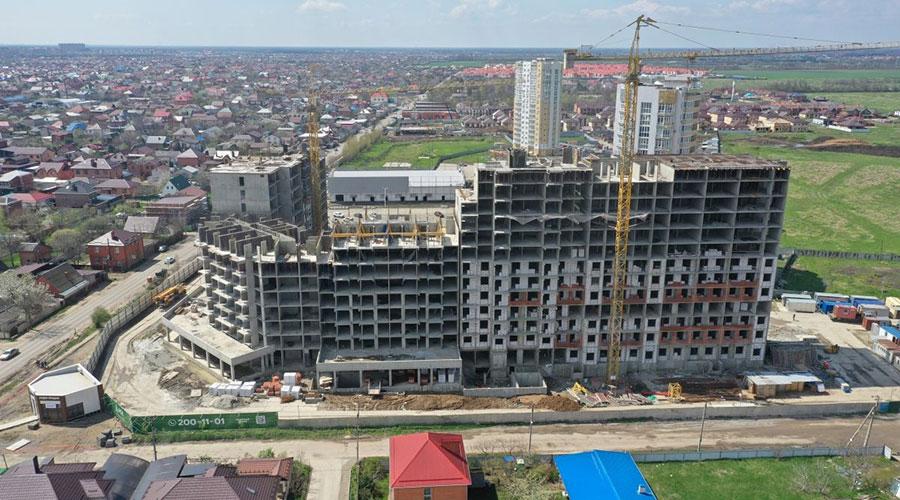 Отчет о строительстве ЖК «Зеленодар», апрель, 2021г.