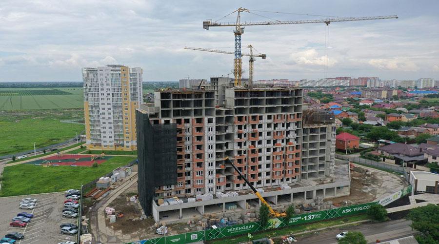 Отчет о строительстве ЖК «Зеленодар», май, 2021г.