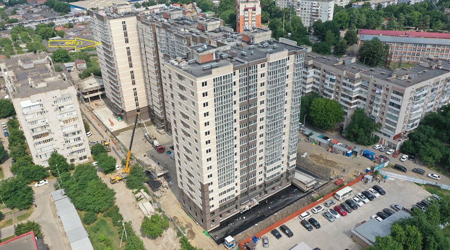 Отчет о строительстве ЖК «Айвазовский»,  июль, 2021г.