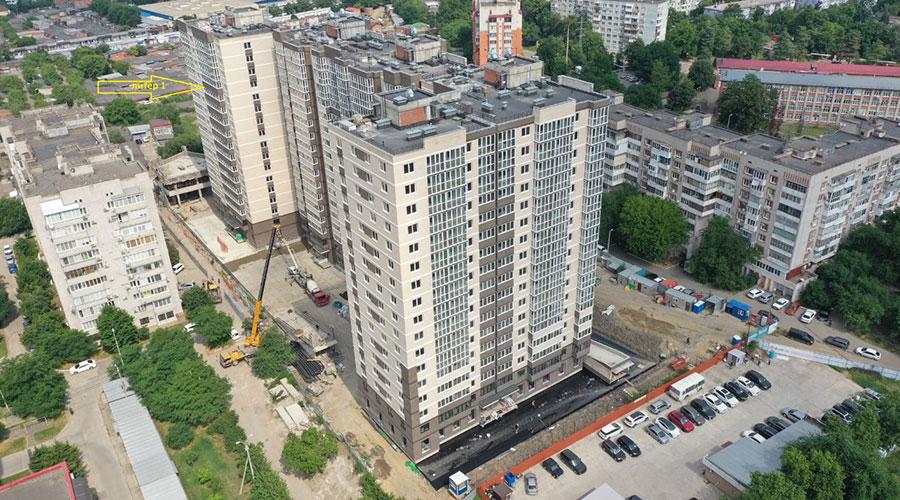 Отчет о строительстве ЖК «Айвазовский», июнь, 2021г.