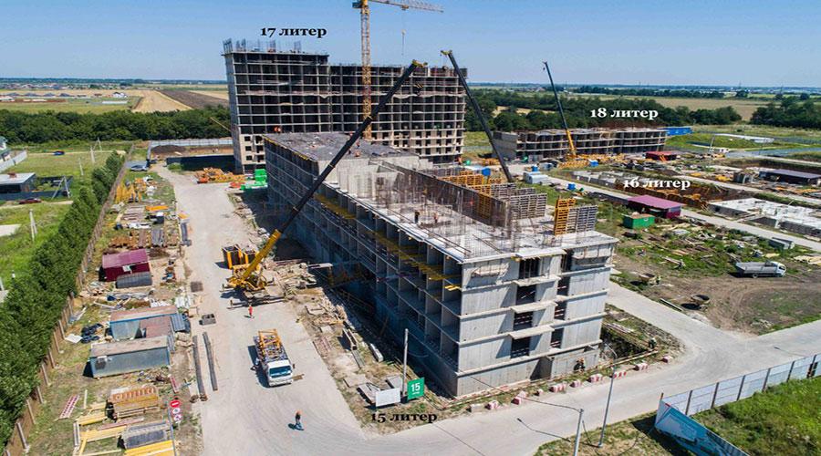 Отчет о строительстве ЖК «Дыхание», июль, 2021г.