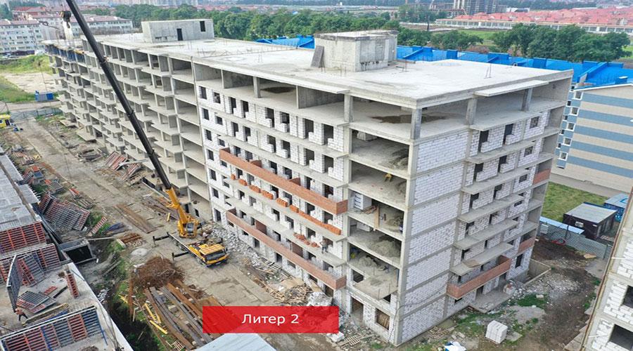 Отчет о строительстве ЖК «Краски», июль, 2021г.