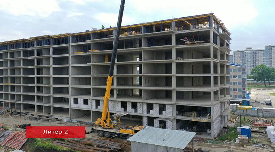 Отчет о строительстве ЖК «Краски», июнь, 2021г.