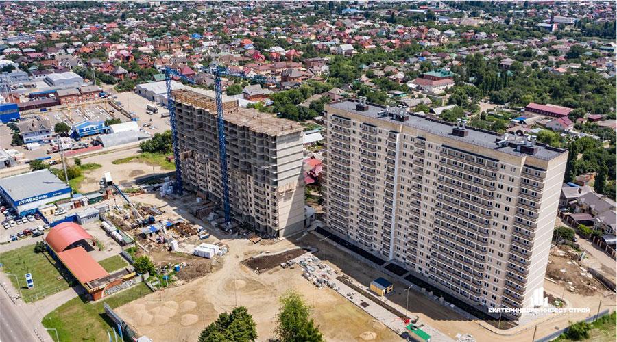 Отчет о строительстве ЖК «Олимпийский», июль, 2021г.