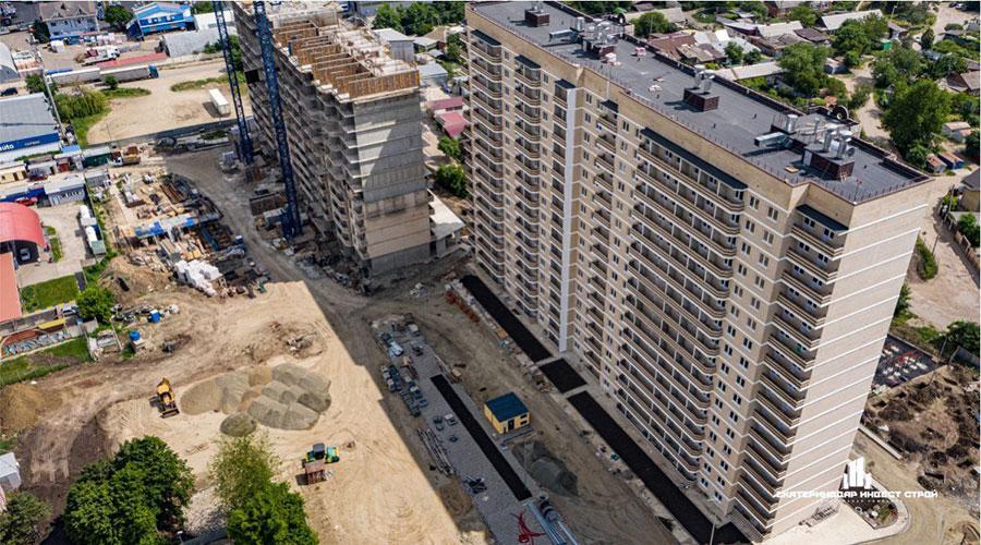 Отчет о строительстве ЖК «Олимпийский», июнь, 2021г.