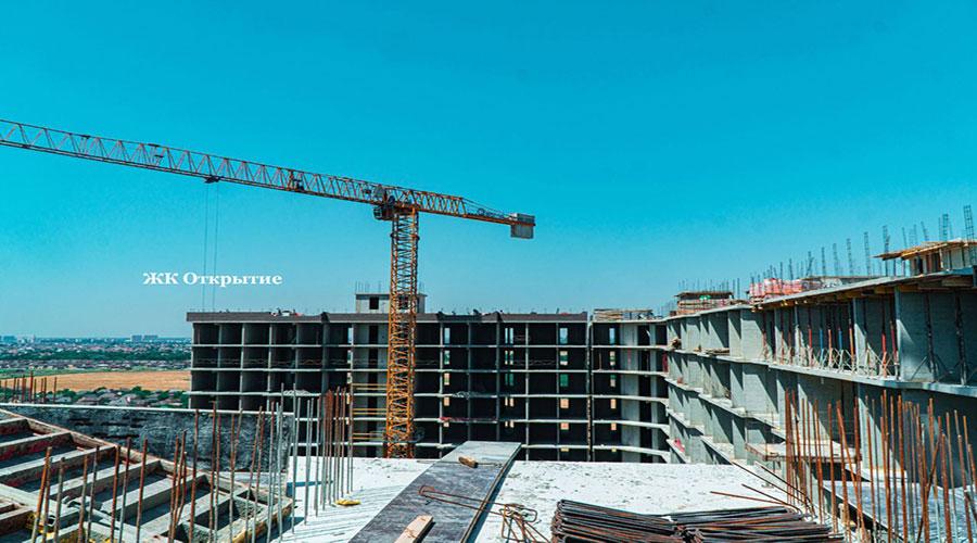 Отчет о строительстве ЖК «Открытие», июль, 2021г.