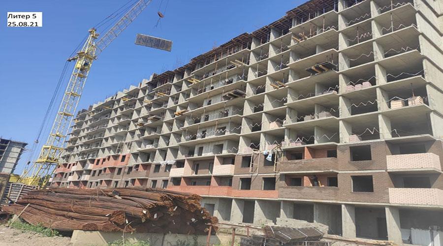Отчет о строительстве ЖК «Акварели 2», август, 2021г.