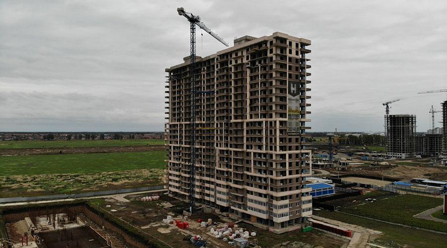 Отчет о строительстве ЖК «Отражение», сентябрь, 2021г.
