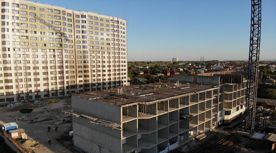 Отчет о строительстве ЖК «Мега Победа», сентябрь, 2021г.