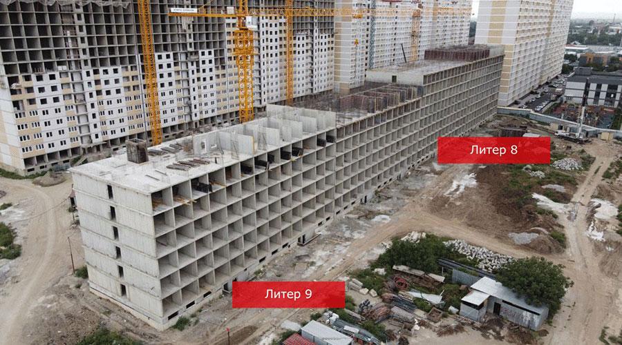 Отчет о строительстве ЖК «Славянка», август, 2021г.