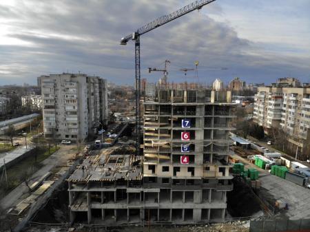 Отчет о строительстве ЖК «Айвазовский», февраль, 2020г.